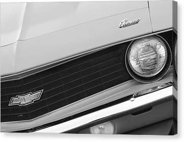 1969 Chevrolet Camaro Copo Replica Grille Emblems Canvas Print by Jill Reger