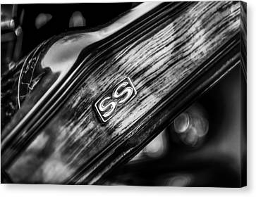 1969 Chevrolet Camaro Rs-ss Indy Pace Car Replica Steering Wheel Emblem Canvas Print by Jill Reger