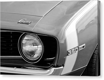 1969 Chevrolet Camaro Ss Headlight Emblems Canvas Print by Jill Reger