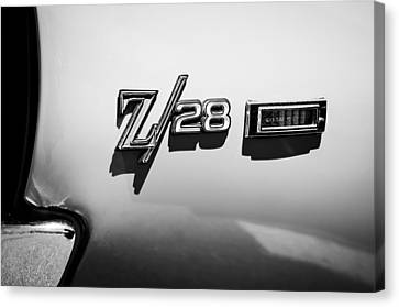 1969 Chevrolet Camaro Z28 Emblem Canvas Print by Jill Reger