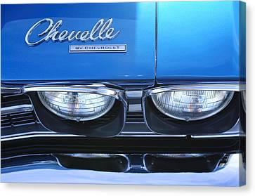 1969 Chevrolet Chevelle Emblem Canvas Print by Jill Reger