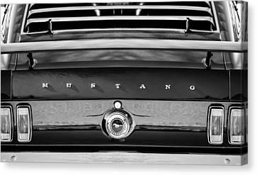 1969 Ford Mustang 302 Rear Emblem Canvas Print by Jill Reger