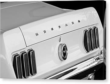 1969 Ford Mustang Boss 429 Taillight Emblem Canvas Print
