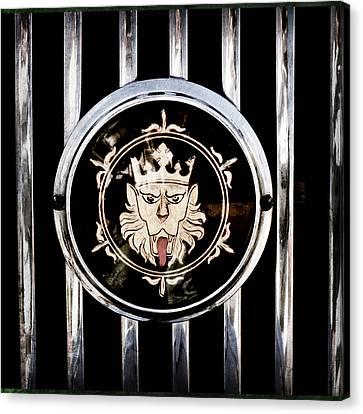 1969 Morgan Roadster Grille Emblem Canvas Print by Jill Reger