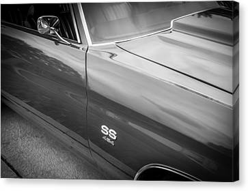 1970 Chevy Chevelle 454 Ss Painted Bw   Canvas Print