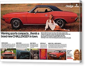 1970 Dodge Challenger Canvas Print by Digital Repro Depot