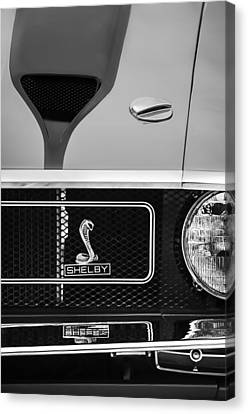 1970 Ford Mustang Gt350 Replica Grille Emblem Canvas Print