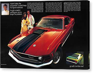 1970 Ford Mustang Mach 1 Canvas Print by Digital Repro Depot