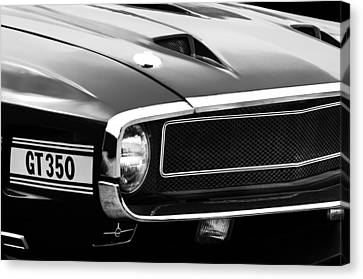 1970 Ford Shelby Gt350 Fastback Emblem Canvas Print by Jill Reger