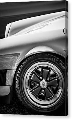 1984 Porsche 911 Carrera Wheel Emblem -2270bw Canvas Print by Jill Reger