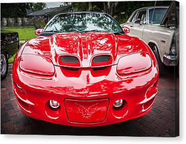 1999 Pontiac Trans Am Anniversary Edition Painted Canvas Print by Rich Franco