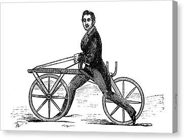 19th Century Velocipede Canvas Print by Bildagentur-online/tschanz