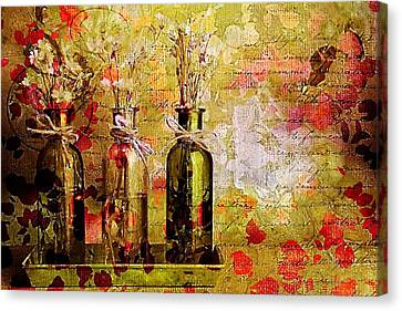1-2-3 Bottles - S12a203 Canvas Print by Variance Collections