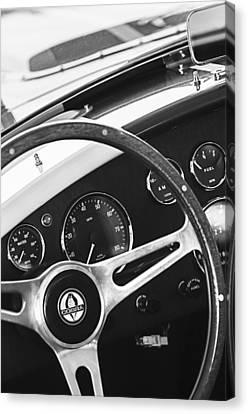 2001 Canvas Print - 2001 Shelby Cobra Replica Steering Wheel Emblem by Jill Reger