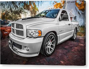 2004 Dodge Ram Srt 10 Viper Truck Painted Canvas Print by Rich Franco