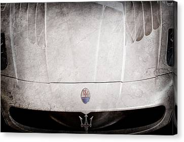 2005 Maserati Mc12 Hood Ornament Canvas Print by Jill Reger