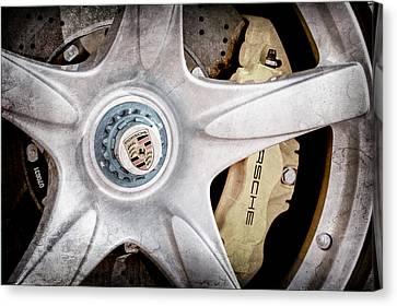 2005 Porsche Carrera Gt Wheel Emblem Canvas Print by Jill Reger