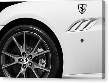 2010 Ferrari California Wheel Emblem Canvas Print