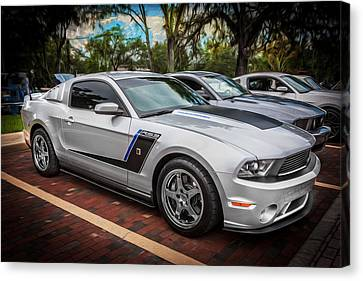 2012 Ford Roush Stage 3 Mustang Rs3 Painted  Canvas Print by Rich Franco