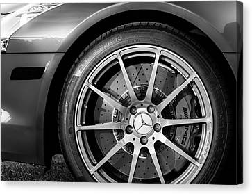 2012 Mercedes-benz Sls Amg Gullwing Wheel Canvas Print