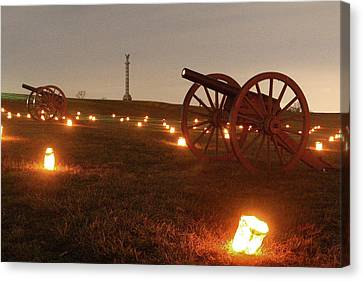 Canvas Print featuring the photograph 2013 Antietam - Cannon by Judi Quelland