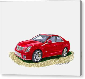 2013 Cadillac C T S  V Canvas Print