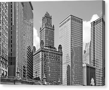 Art Deco Jewelry Canvas Print - 35 East Wacker Chicago - Jewelers Building by Christine Till