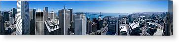 360 Degree View Of A City, Rincon Hill Canvas Print by Panoramic Images