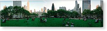 360 Degree View Of A Public Park Canvas Print by Panoramic Images