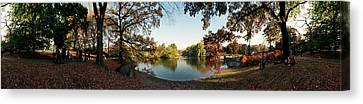 360 Degree View Of An Urban Park Canvas Print by Panoramic Images