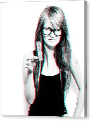 3d Woman Holding Movie Tickets Canvas Print by Jorgo Photography - Wall Art Gallery