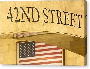 42nd Street Canvas Print by Susan Candelario