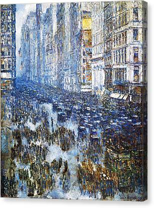 Fifth Avenue Canvas Print by Childe Hassam