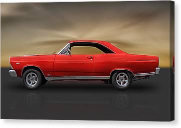 66 Ford Fairlane 500 - 390 Gta Canvas Print