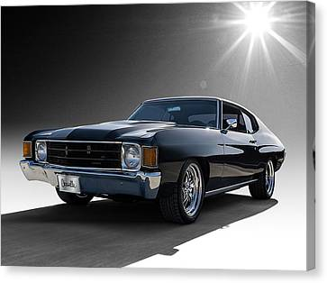 Chevrolet Chevelle Canvas Print - '72 Chevelle by Douglas Pittman