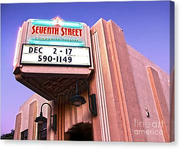 7th Street Theatre - Chino Ca Canvas Print by Gregory Dyer