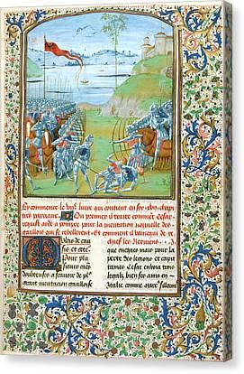 A Battle Scene Canvas Print