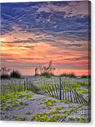 A Beach Sunset Canvas Print by Brian Mollenkopf