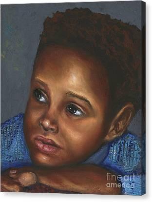 A Boy Canvas Print by Alga Washington