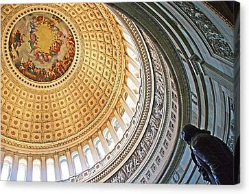 Canvas Print featuring the photograph A Capitol Rotunda by Cora Wandel