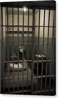 A Cell In Alcatraz Prison Canvas Print by RicardMN Photography