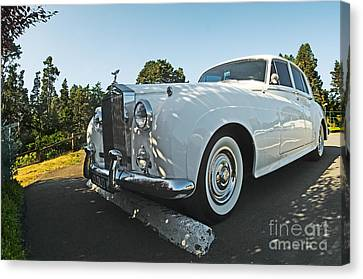 A Classic Rolls Royce Canvas Print by Ron Sanford