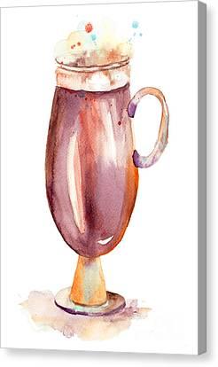 A Cup Of Coffee  Canvas Print by Regina Jershova