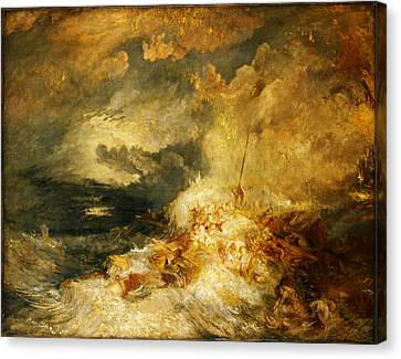 Newy Ork Canvas Print - A Disaster At Sea by Joseph Mallord William Turner