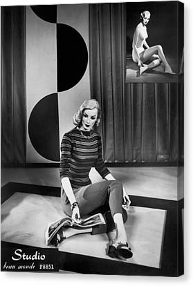A Fashionable Mannequin Canvas Print by Underwood Archives
