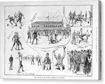 A Football Match Canvas Print by British Library