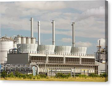 A Gas Fired Power Station At Salt End Canvas Print by Ashley Cooper