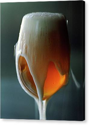 A Glass Of Beer Canvas Print by Romulo Yanes