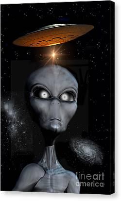 A Grey Alien Canvas Print