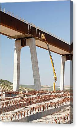 A High Speed Rail Link Being Constructed Canvas Print
